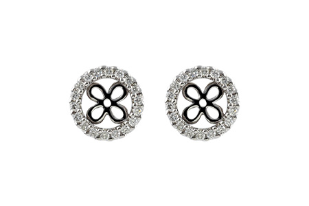 B242-49386: EARRING JACKETS .30 TW (FOR 1.50-2.00 CT TW STUDS)