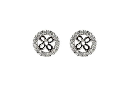 C242-49377: EARRING JACKETS .24 TW (FOR 0.75-1.00 CT TW STUDS)