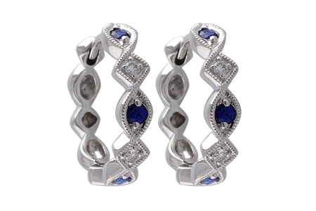 F056-09367: EARRINGS .20 SAPP .25 TGW