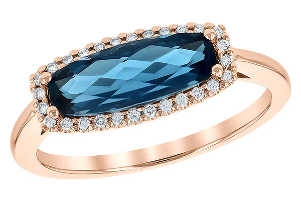 L245-23076: LDS RG 1.79 LONDON BLUE TOPAZ 1.90 TGW